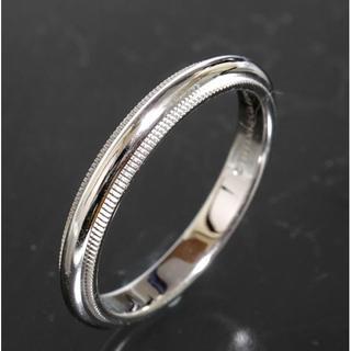 ティファニー(Tiffany & Co.)のティファニー TIFFANY&CO.ミルグレイン リング 17号 pt950(リング(指輪))