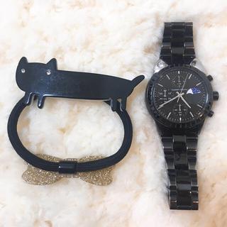 ツモリチサト(TSUMORI CHISATO)のツモリチサト ビッグキャットウォッチ&ヘアゴム(腕時計)