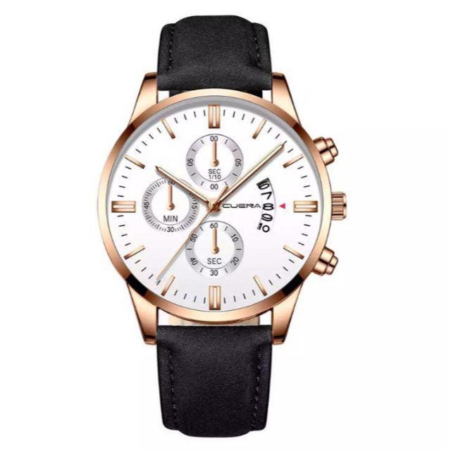 [新品] men's インポートウォッチクォーツ腕時計ブラックローズ 黒バラの通販