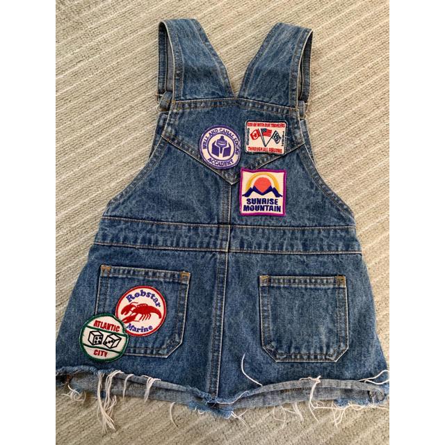 MPS(エムピーエス)のジャンバースカート  ジャンスカ 110センチ  MPS キッズ/ベビー/マタニティのキッズ服女の子用(90cm~)(スカート)の商品写真