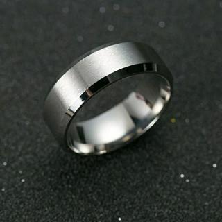 新品★送料無料★メタルシルバーリング★8mm幅(リング(指輪))