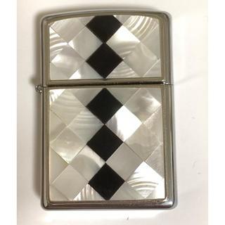 ジッポー(ZIPPO)のZippo ジッポー天然高級白蝶貝白黒色貼り新品未使用正規品(その他)