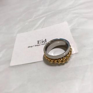 アメリヴィンテージ(Ameri VINTAGE)のCenter chain gold ring No.59(リング(指輪))