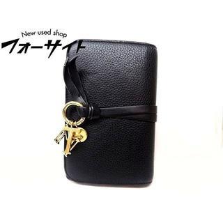 クロエ(Chloe)の クロエ■3P0709 アルファベット チャーム 付き ブラック レザー 財布(財布)