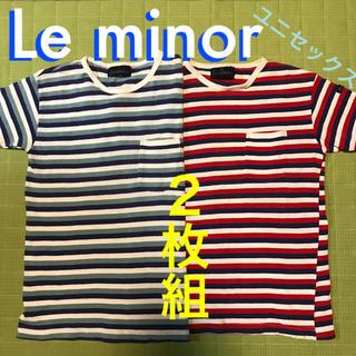 ルミノア(Le Minor)のルミノア Le minor トリコカラー ポケット付きTシャツ カットソー2枚組(カットソー(半袖/袖なし))