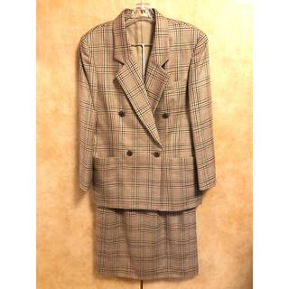 バーバリー(BURBERRY)のバーバリ Burberry セットアップ スーツ チェック  ブラウン(スーツ)