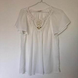 ナチュラルクチュール(natural couture)の白のブラウス(チュニック)