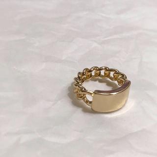 ザラ(ZARA)のPlate chain gold ring No.111(リング(指輪))