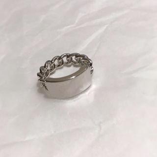アリシアスタン(ALEXIA STAM)のPlate chain silver ring No.112(リング(指輪))