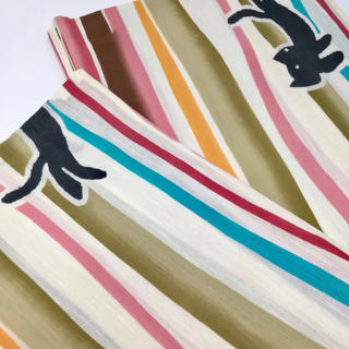 ツモリチサト(TSUMORI CHISATO)のタイムセール中!【ツモリチサト】 ストライプ&キャット!  浴衣(浴衣)