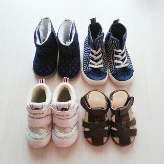 ブリーズ(BREEZE)の子供靴まとめ売り 13㎝ 三点セット(スニーカー)