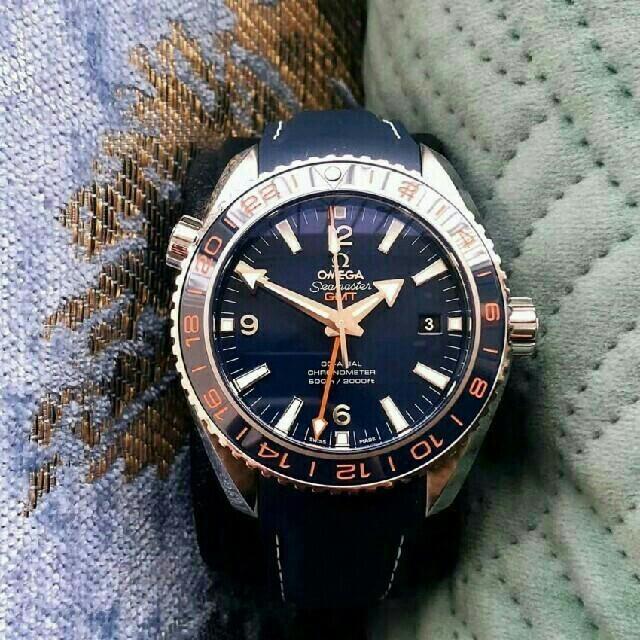 ブランドコピー どこで買える | OMEGA - OMEGA シーマスター プラネットオーシャン GMT メンズ 腕時計の通販 by シュンジ's shop|オメガならラクマ