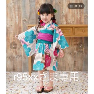 フリフ(ふりふ)の専用/utatane ひよこ商店 浴衣ワンピース 100cm(甚平/浴衣)