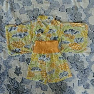 シマムラ(しまむら)の中古美品/浴衣ドレス風お洋服・サイズ80(甚平/浴衣)