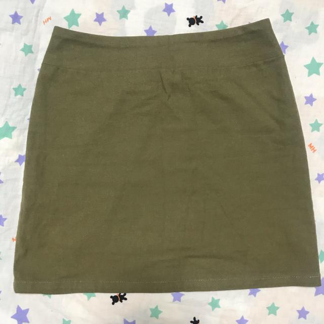 MERCURYDUO(マーキュリーデュオ)のMERCURYBIJOU カーキ ミニスカート マーキュリービジュー レディースのスカート(ミニスカート)の商品写真