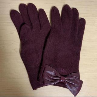 クロエ(Chloe)のChloe リボン手袋(手袋)