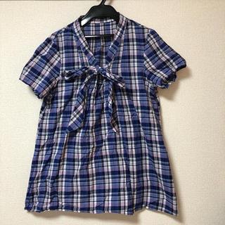 グラニフ(Design Tshirts Store graniph)のグラニフ チェックブラウス(シャツ/ブラウス(半袖/袖なし))