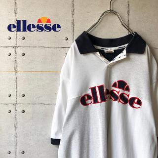 エレッセ(ellesse)の【激レア】 ellesse エレッセ デカロゴ ビッグサイズ ポロシャツ(ポロシャツ)
