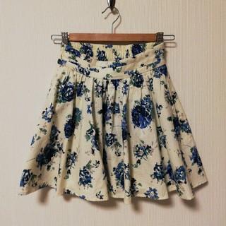 ローリーズファーム(LOWRYS FARM)の【LOWRYS FARM】花柄スカート(ミニスカート)