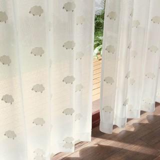 ベルメゾン(ベルメゾン)の最終値下げ!UVカットミラーレースカーテン 羊柄(レースカーテン)