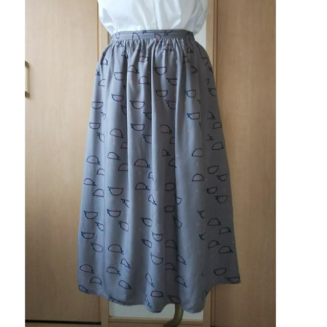 TSUMORI CHISATO(ツモリチサト)のお値下げ POU DOU DOU 小鳥スカート レディースのスカート(ロングスカート)の商品写真