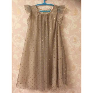 エイチアンドエム(H&M)のH&M チュールワンピース ドレス 美品 130 120(ワンピース)