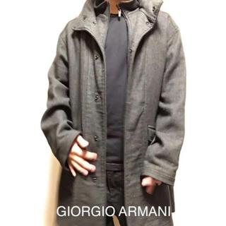 ジョルジオアルマーニ(Giorgio Armani)のジョルジオアルマーニ  ロングコート  フード付  ボタン  ファスナー(その他)