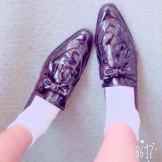 コムデギャルソン(COMME des GARCONS)の週末値下げ★コムデギャルソン★黒レザー靴(ローファー/革靴)