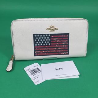 コーチ(COACH)のコーチ COACH アメリカーナ フラッグ 長財布 F73608 ホワイト 新品(財布)