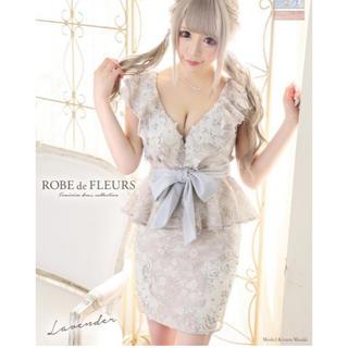 ローブ(ROBE)のROBE de FLEURS  立体フラワー キャバドレス(ナイトドレス)