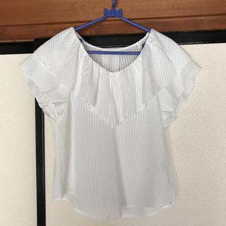 ジーユー(GU)のシフォン ブラウス 試着のみ(シャツ/ブラウス(半袖/袖なし))
