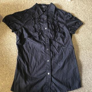 ギャップ(GAP)のギャップ半袖シャツGAP襟付きブラウス レディース フリル 夏羽織り(シャツ/ブラウス(半袖/袖なし))