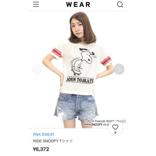 スヌーピー(SNOOPY)のRNA スヌーピーコラボTシャツ(Tシャツ(半袖/袖なし))