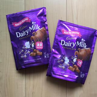 メイジ(明治)のCadbury Dairy Milk 22pc x 2パック(菓子/デザート)