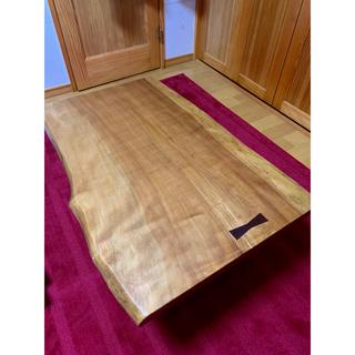 天然無垢材角テーブル インテリア家具(ローテーブル)