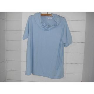 【新品未使用】6Lサイズカットソー ブルー 半袖(Tシャツ(半袖/袖なし))