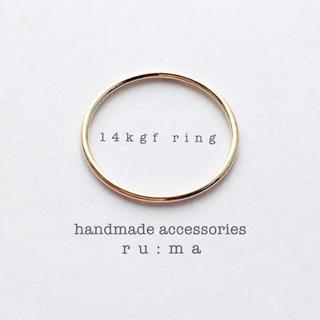 14kgf*ゴールドプレーンリング beams、トゥモローランド好きに(リング(指輪))