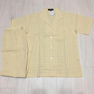 BURBERRY - バーバリー レディースL 黄色 半袖長ズボン パジャマ