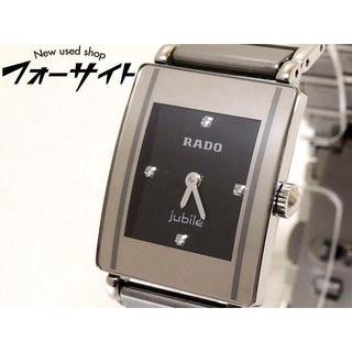 ラドー(RADO)のラドー■ ジュビリー チタン 4P ダイヤ 文字盤 レディース クォーツ 時計(腕時計)