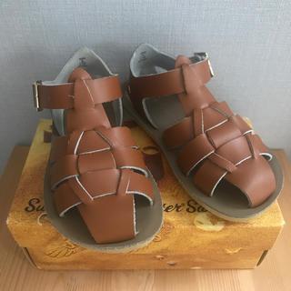 コドモビームス(こどもビームス)の【salt water sandals ソルトウォーターサンダル 】タン US8(サンダル)