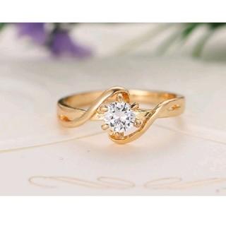 GOLD に輝くシンプルデザインリング21号(リング(指輪))