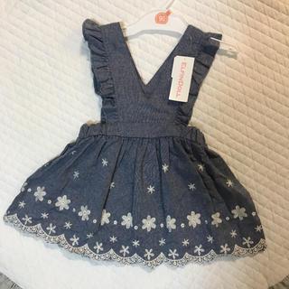 ニシマツヤ(西松屋)の新品/ワンピース/刺繍/スカート/90(ワンピース)