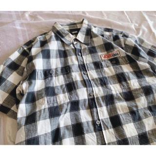 ヴァンズ(VANS)のVANS シャツ 半袖 夏服 チェック 柄 シンプル ワンポイント 90s(シャツ)