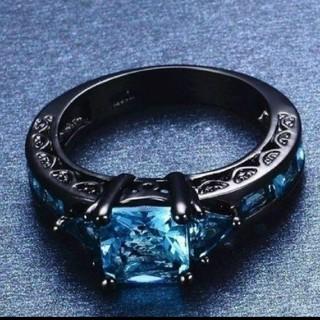 アクアマリンdesignringクローム仕様(リング(指輪))