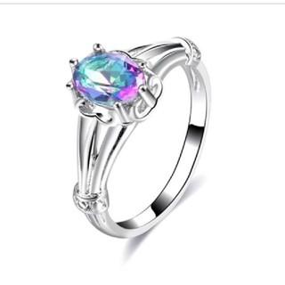 オーロラ色のデザインリング(リング(指輪))