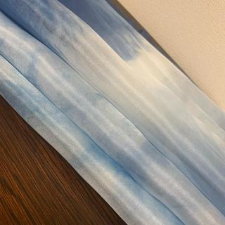 4匁羽二重藍染め3枚セット(生地/糸)