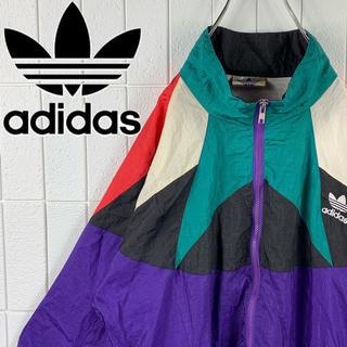 アディダス(adidas)のアディダス USA製 銀タグ クレイジーパターン ゆるだぼ 90s ナイロン(ナイロンジャケット)
