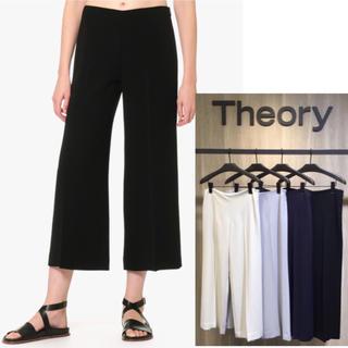 セオリー(theory)の極美品 Theory 18SS ワイドパンツ ブラック(カジュアルパンツ)