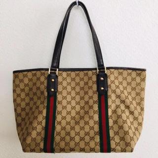 グッチ(Gucci)のGUCCI グッチ トートバッグ チャーム付き 保存袋付き A4(トートバッグ)