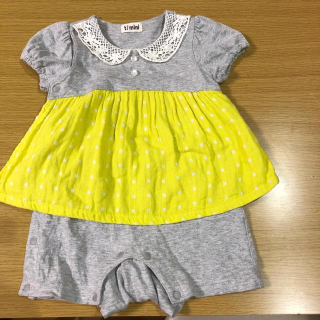 t/mini(ターカーミニ)の女の子ロンパース 70センチ キッズ/ベビー/マタニティのベビー服(~85cm)(ロンパース)の商品写真